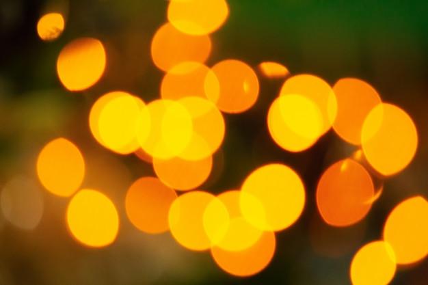 Fond De Bokeh Jaune-orange Photo Premium