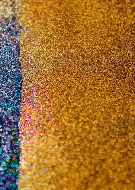 Fond de bokeh de paillettes d'or et bleu Photo gratuit
