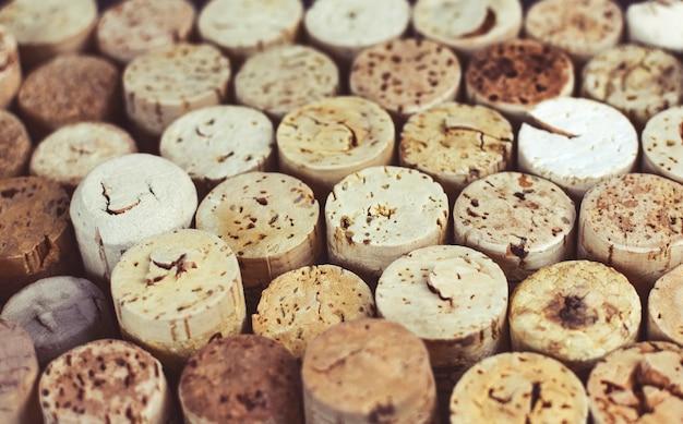 Fond De Bouchons De Vin Gros Plan, Macro. Vinification. Photo Premium