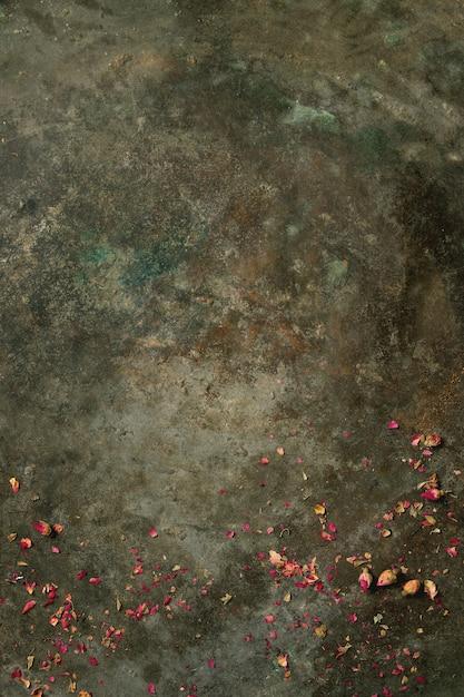 Fond avec boutons de roses secs Photo Premium