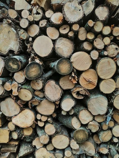 Fond de bûches de bois Photo gratuit