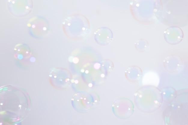 Fond de bulles de savon Photo Premium