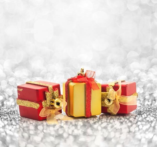 Fond de cadeau de noël Photo Premium