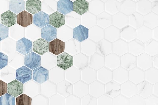 Fond Carrelé Hexagonal Moderne Photo gratuit