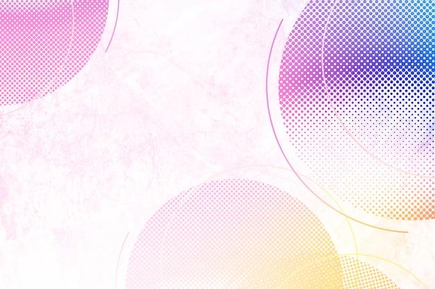 Fond de cercles colorés Photo gratuit