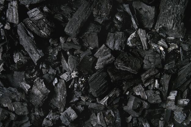 Fond de charbon noir Photo Premium