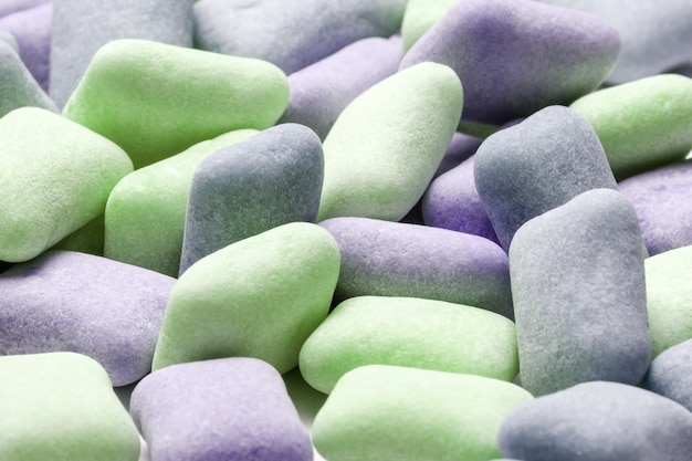Fond de chewing-gum coloré se bouchent Photo Premium