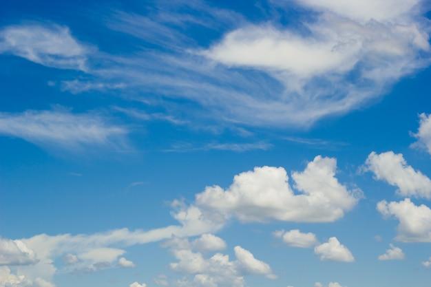 Fond De Ciel Bleu Avec Nuageux Télécharger Des Photos Premium