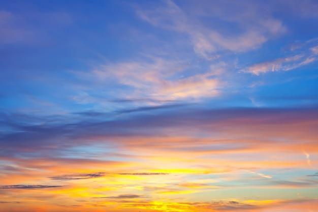 Fond de ciel sur le lever du soleil Photo gratuit