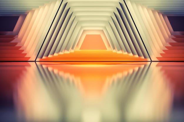 Fond coloré avec des formes abstraites trapèze symétriques géométriques. bon pour les affiches, marques, affiches ou couvertures. Photo Premium