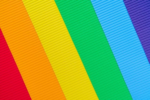 Fond coloré de papier ondulé. Photo Premium