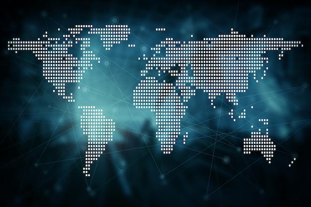 Fond de concept technologie futur futur réseau global connexion Photo Premium