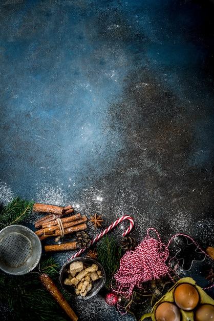 Fond de cuisson de noël Photo Premium