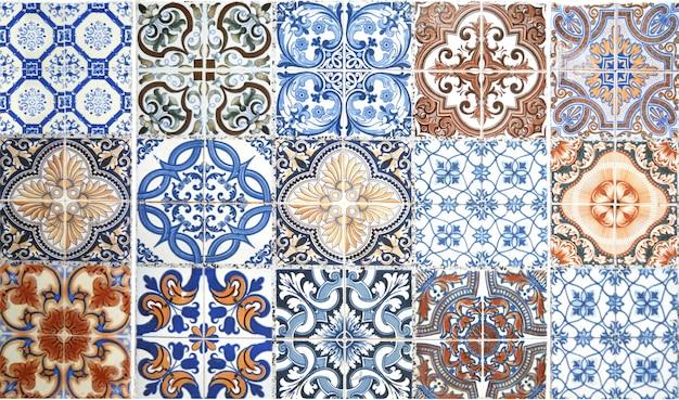 Fond De Décoration Murale Carreaux De Céramique Vintage. Photo Premium