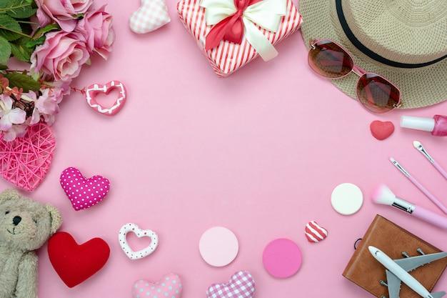 Fond de décoration saint valentin. Photo Premium