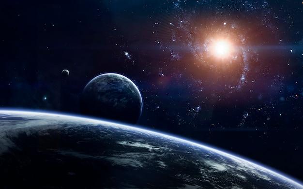 Photo Premium Fond D Ecran De L Espace De Science Fiction Planetes Incroyablement Belles Galaxies Beaute Sombre Et Froide De L Univers Sans Fin