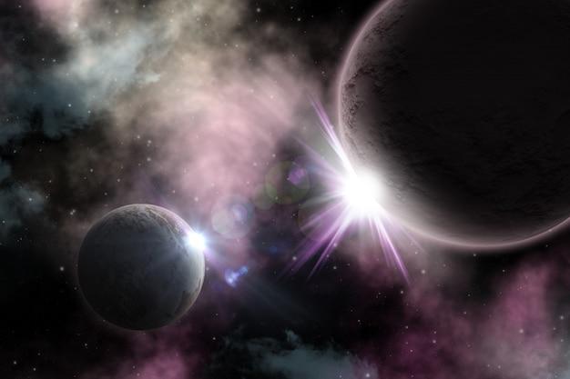 Fond d'espace 3d Photo gratuit