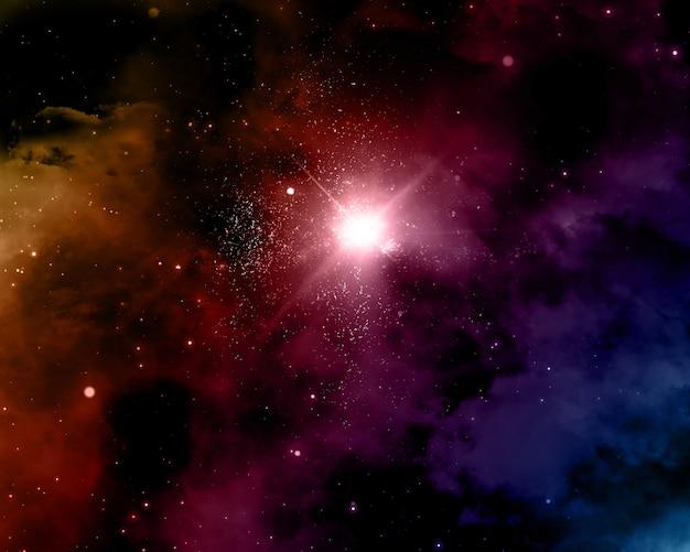 Fond de l'espace avec la nébuleuse Photo gratuit