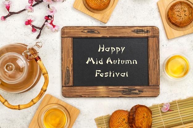 Fond De Festival De Mi-automne Photo Premium