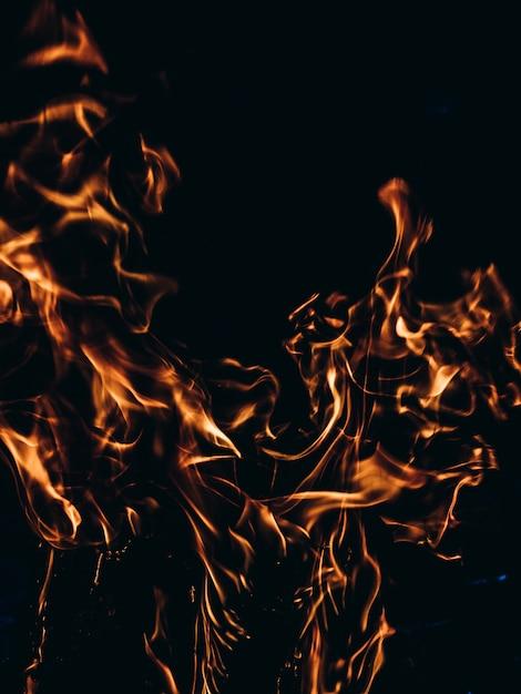 Fond de feu. Photo Premium