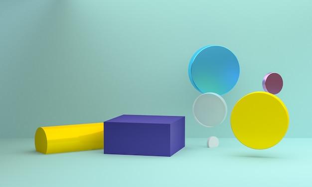 Fond de figures géométriques abstraites minimalistes Photo Premium