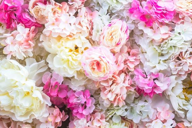 Fond de fleurs artificielles Photo Premium