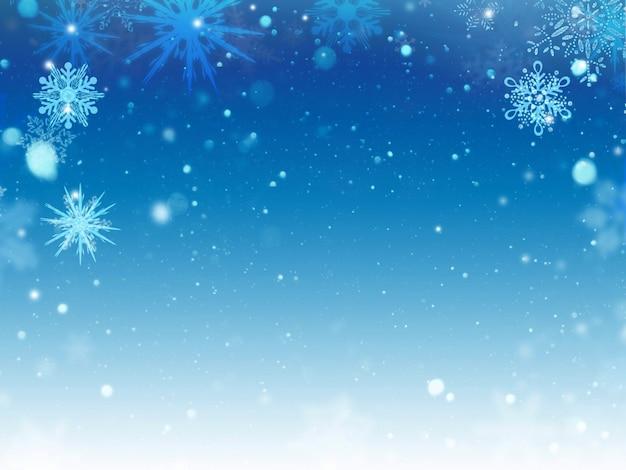 Fond flocon de neige Photo gratuit
