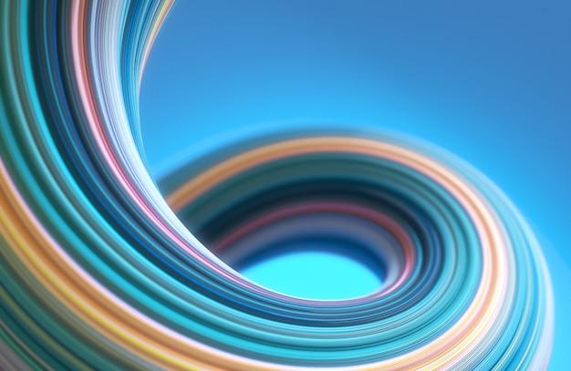 Fond de forme torsadée de couleur pastel abstrait géométrie 3d Photo Premium