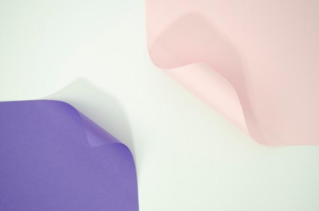 Fond de formes géométriques en papier courbé Photo gratuit