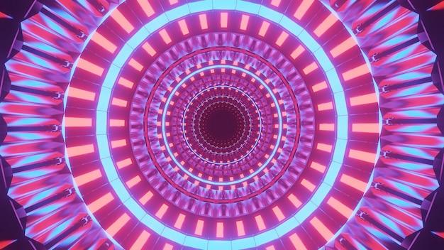 Fond Futuriste Cool Avec Des Cercles Colorés Allumés Photo gratuit
