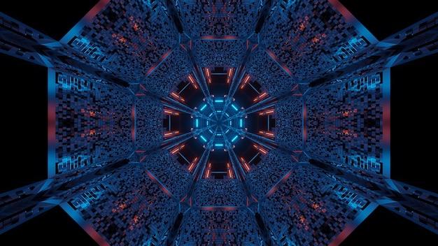 Fond Futuriste Avec Des Lumières Laser Abstraites Violettes Et Bleues - Idéal Pour Un Fond Numérique Photo gratuit