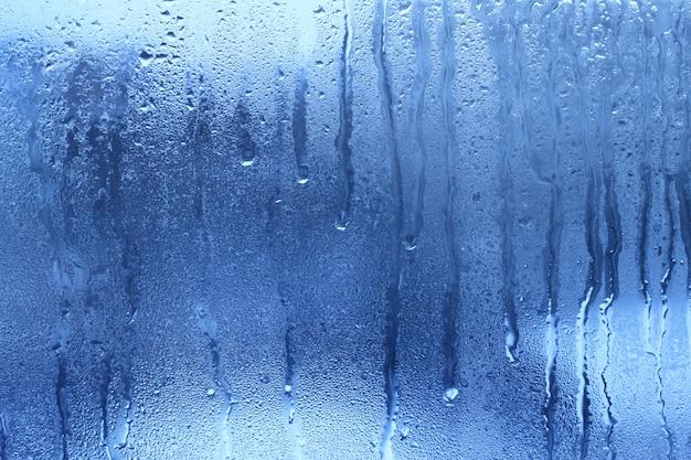 Fond de goutte d'eau bleue naturelle Photo Premium