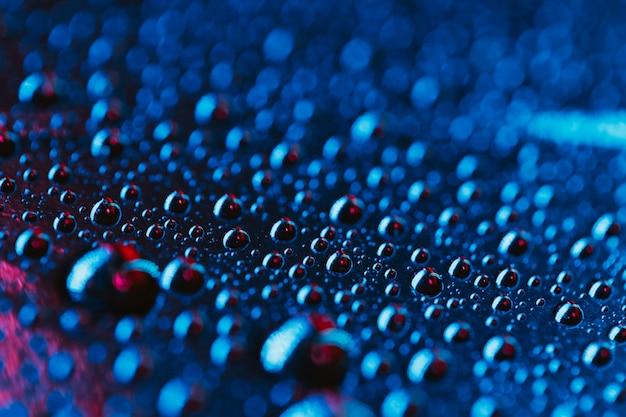 Fond de gouttes d'eau bleu clair Photo gratuit