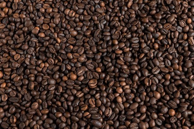 Fond De Grains De Café, Mise En Page Avec Copie Espace Photo Premium