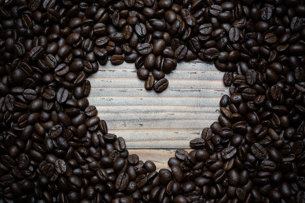 Fond de grains de café. Photo gratuit