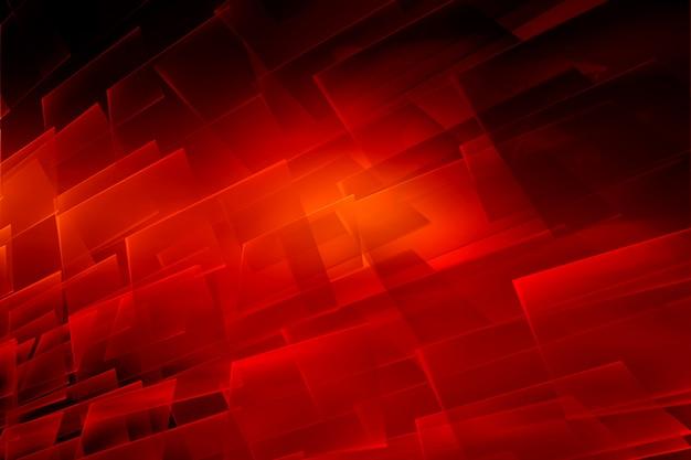 Fond graphique thème abstrait rouge avec des surfaces transparentes Photo Premium