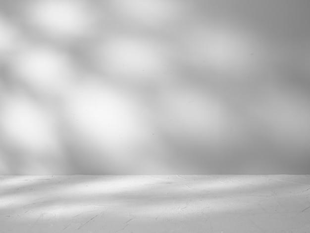 Fond Gris Pour La Présentation Du Produit Avec Des Reflets Et Des Ombres Du Soleil Photo Premium