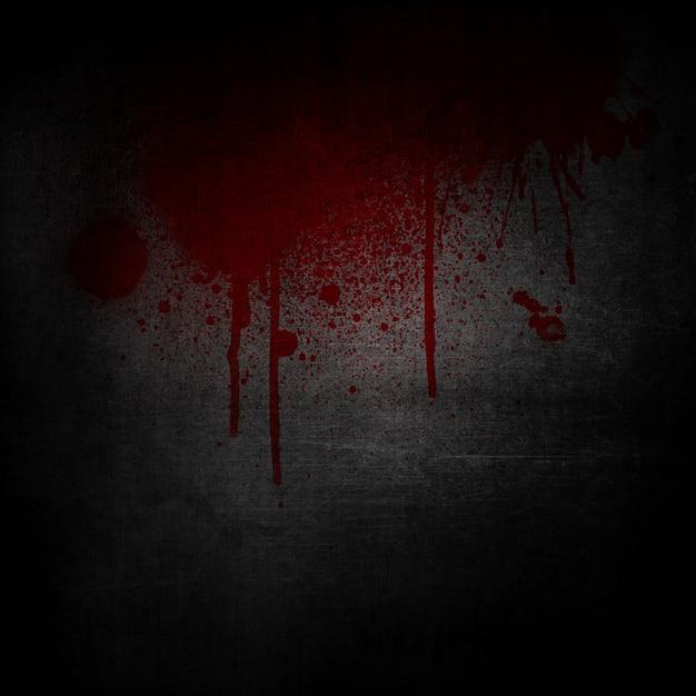 Fond grunge avec des éclaboussures de sang et coulures Photo gratuit