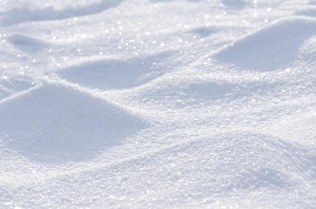 Fond d'hiver de neige Photo Premium