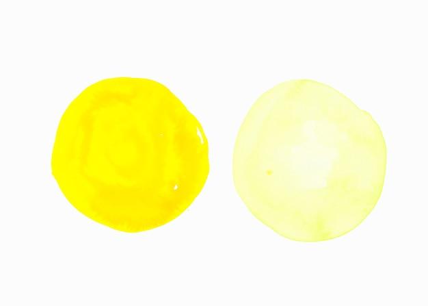Fond jaune clair et lumineux isolé sur fond blanc Photo gratuit