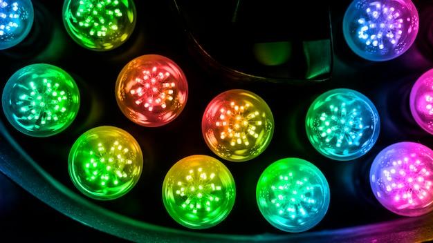 Fond de lumière led circulaire coloré Photo gratuit