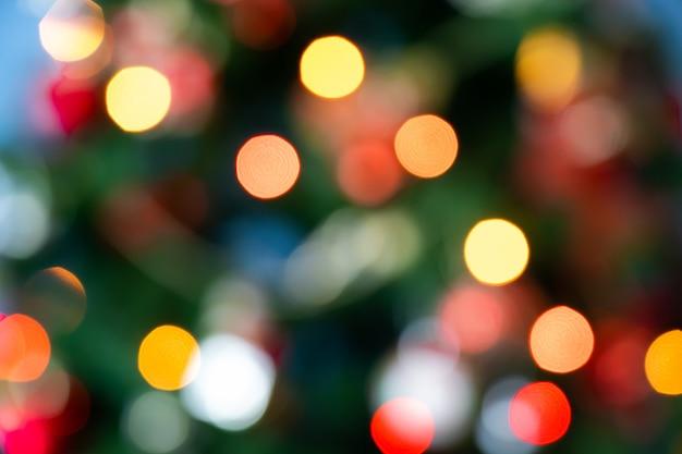 Fond De Lumière De Noël Floue Photo Premium
