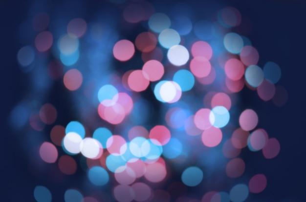 Fond de lumières défocalisé vintage paillettes Photo Premium