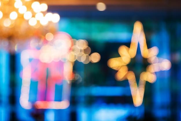 Fond de lumières de noël défocalisé Photo Premium