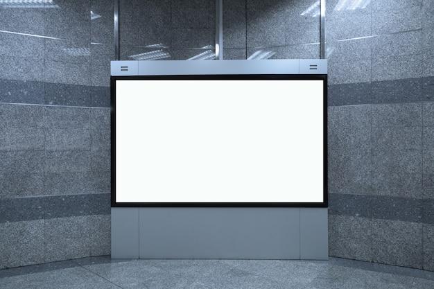 Fond de maquette de panneau blanc vide, 16: 9 Photo Premium