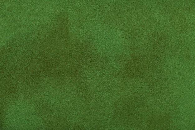 Fond Mat Vert Foncé Du Tissu En Daim, Gros Plan. Photo Premium