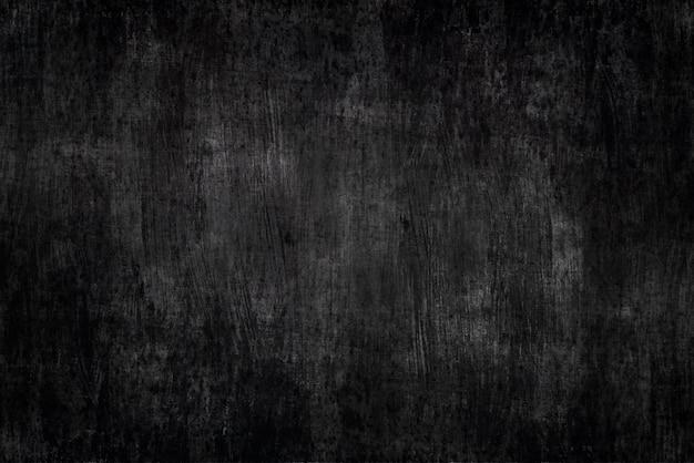 Un fond en métal peint noir avec des coups de pinceau Photo Premium