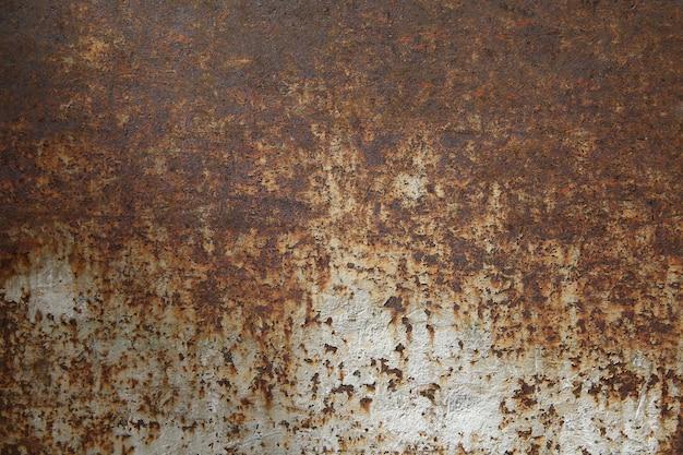 Fond métal rouillé, vieux fer en métal et texture en métal rouillé. Photo Premium