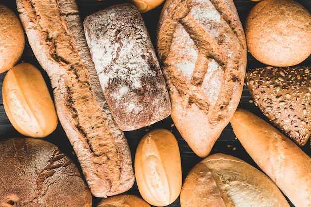 Fond de miches de pain Photo gratuit