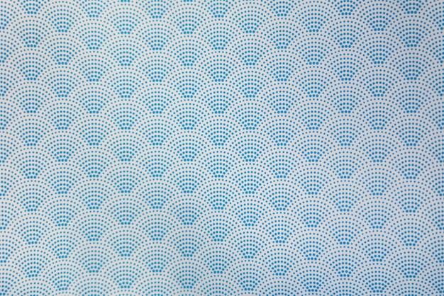 Fond de modèle sans couture vague bleu style japonais en pointillé Photo Premium